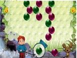 Bubble-game-with-a-dog-and-a-little-boy-in-the-jungle
